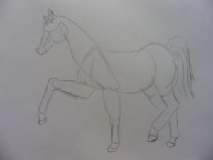 Как нарисовать лошадь карандашом поэтапно