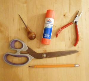 Инструменты для сложения снежинки