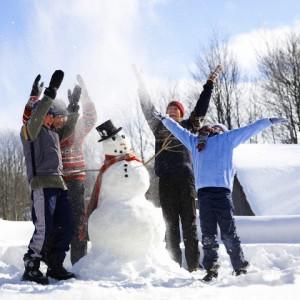 Вылепили снеговик сами