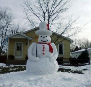 Большой снеговик с аксессуарами