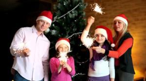 Новый год дома с семьёй