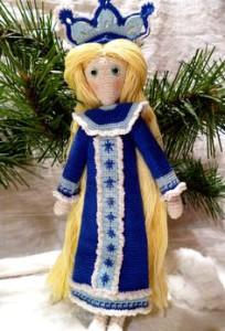 Наряд снегурочки для куклы своими руками