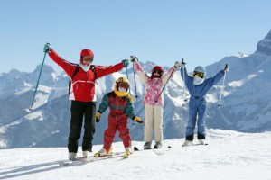 В Новый год на лыжах