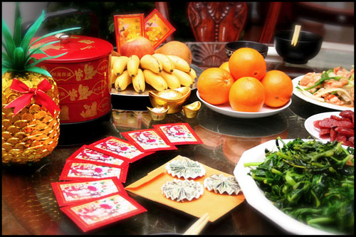 Новогодний стол в Китае
