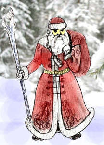 Нарисованный Дед Мороз
