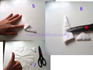 Складываем бумажную снежинку