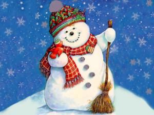Аксессуар снеговика - метла