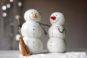 Самодельный снеговик папье маше