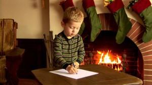 Ребёнок пишет письмо на Север