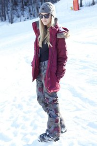 Стильный лыжный костюм на Новый год