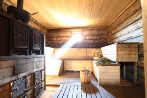 Большая баня изнутри