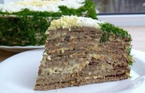 Торт из говяжьей печени