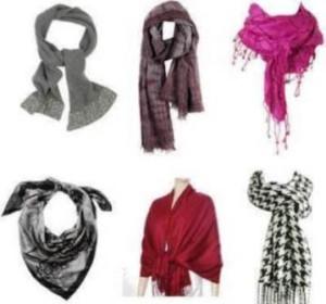 Варианты завязывания шарфов