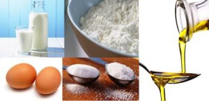Ингредиенты для приготовления блинов
