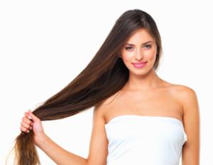 Отрощенные длинные волосы